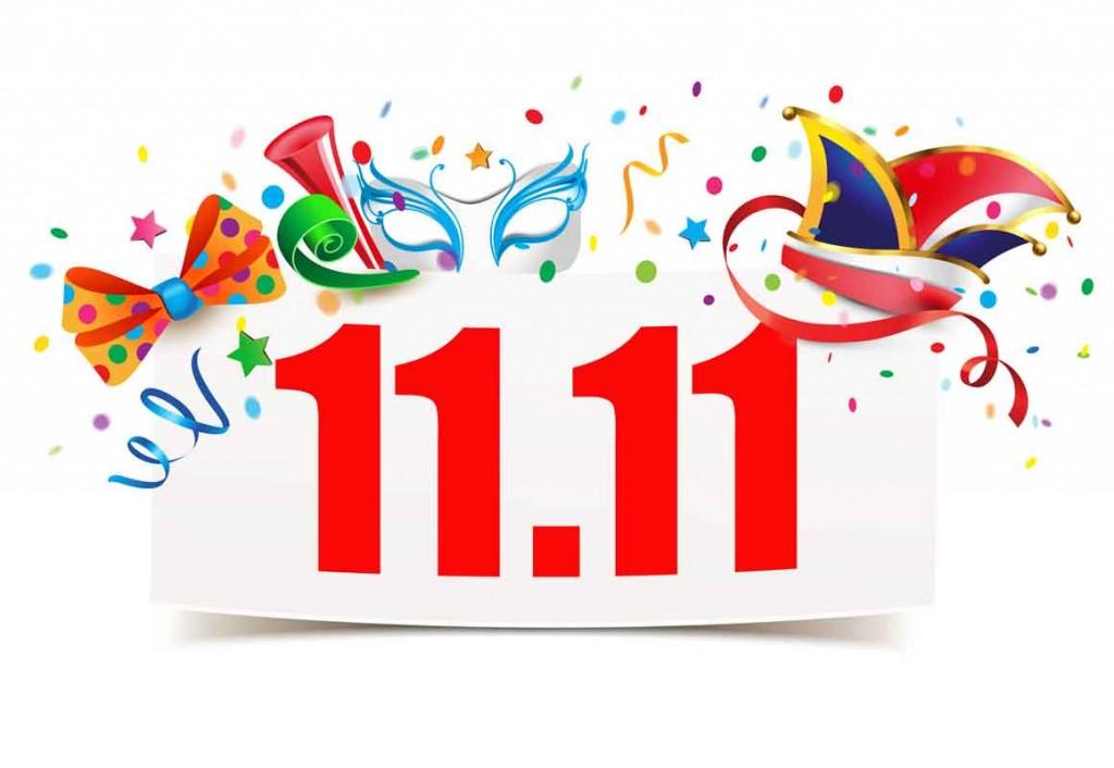 11.11. 11 Uhr 11 Karneval Beginn