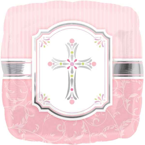 Folienballon Kreuz rosa