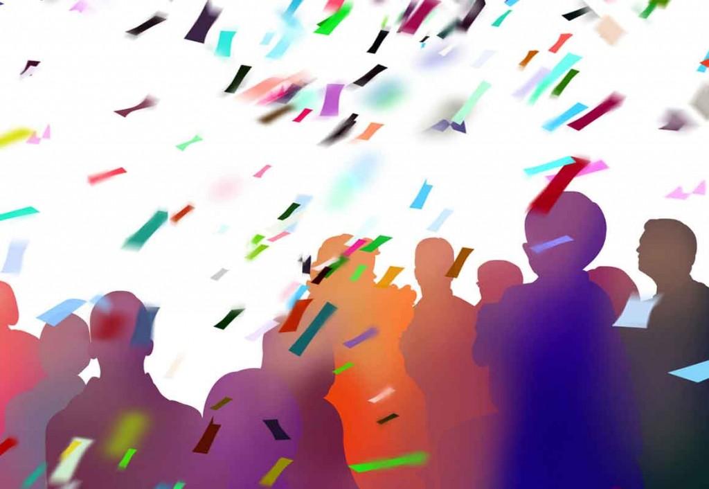 eröffnung konfetti luftschlangen