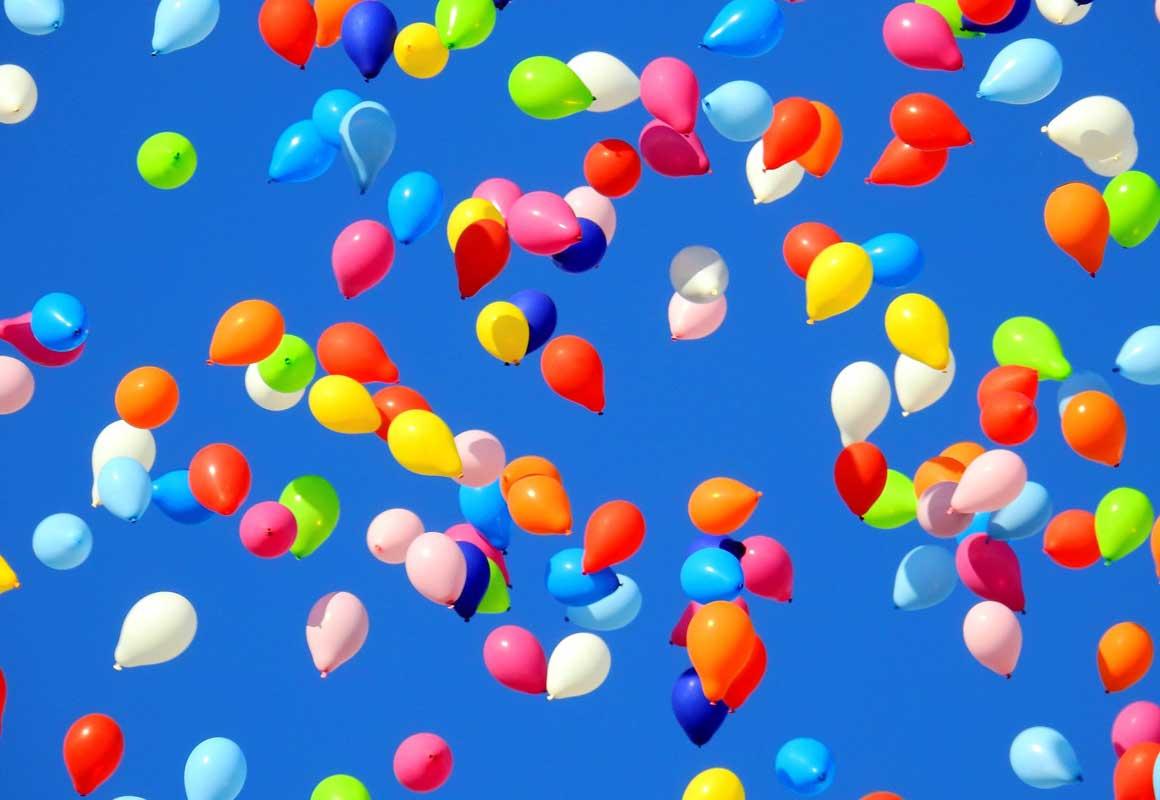 Luftballon Meer Kindergeburtstag