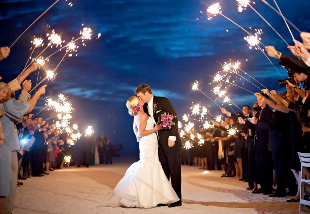 Hochzeit Wunderkerzen