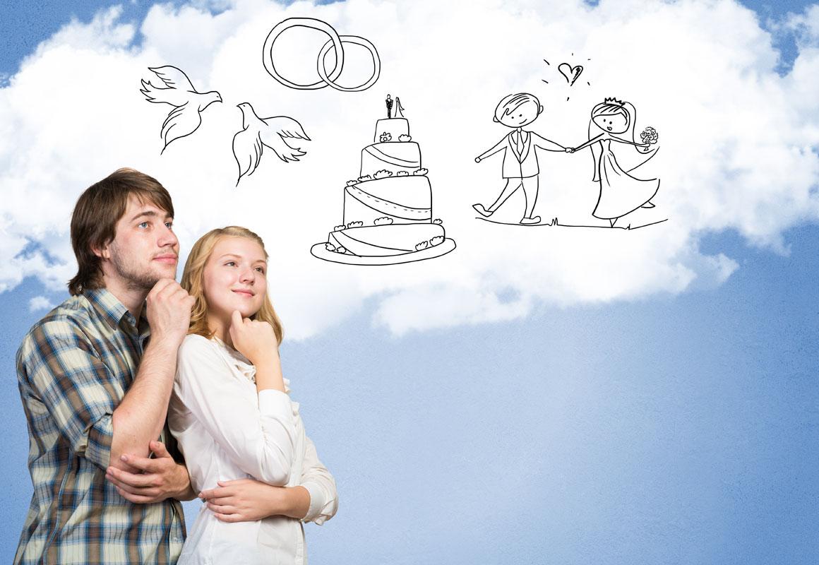 Momente der Hochzeitsplanung