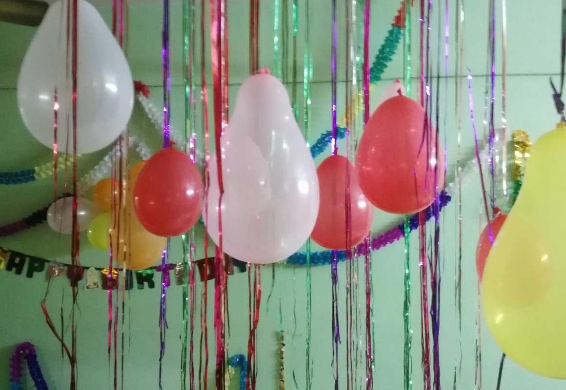Runder Geburtstag Dekoration