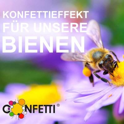 Konfetti Effekt Bienen