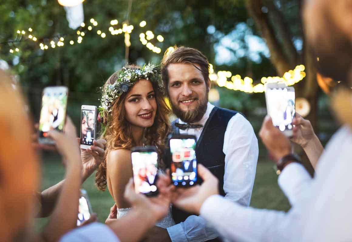 Social Media Hochzeit Twitter Facebook Instagram Pinterest